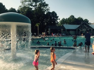 Residents at the Carolina Park pool party