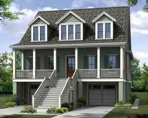 Tidalview home plan at Freeman's Point